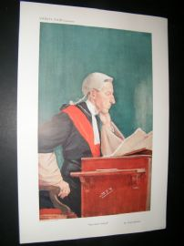Vanity Fair Print 1909 Lord Justice Coleridge, Legal